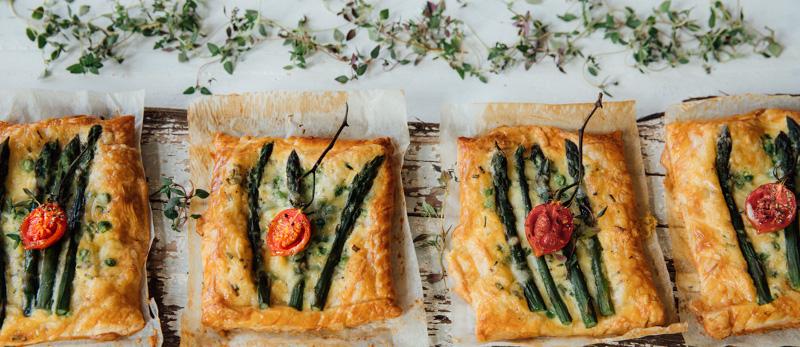 Asparagus and Pea Flan
