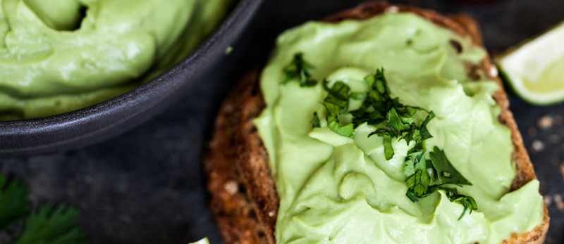Avocado, lime and chilli on toast